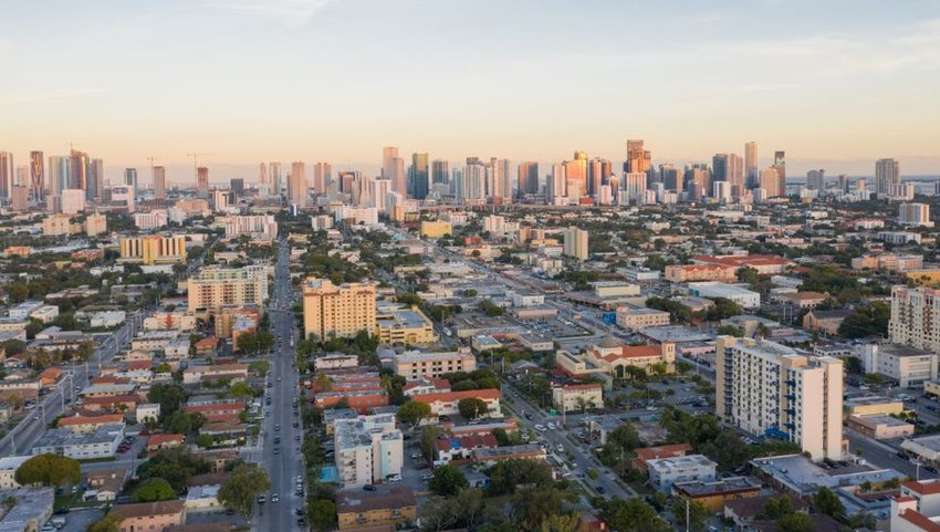 Aerial view of downtown Miami