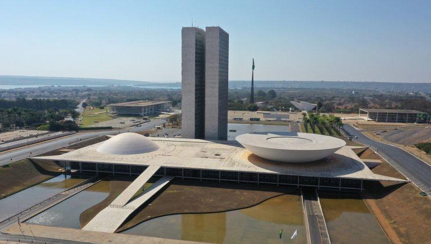 Aerial photo of the Congresso Nacional