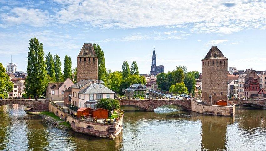 Strasbourg medieval bridge