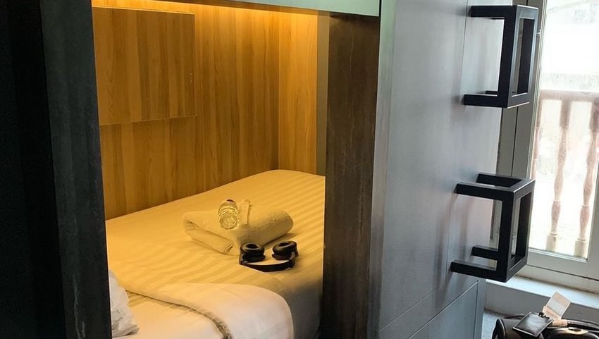 Bed in CUBE Boutique Hotels