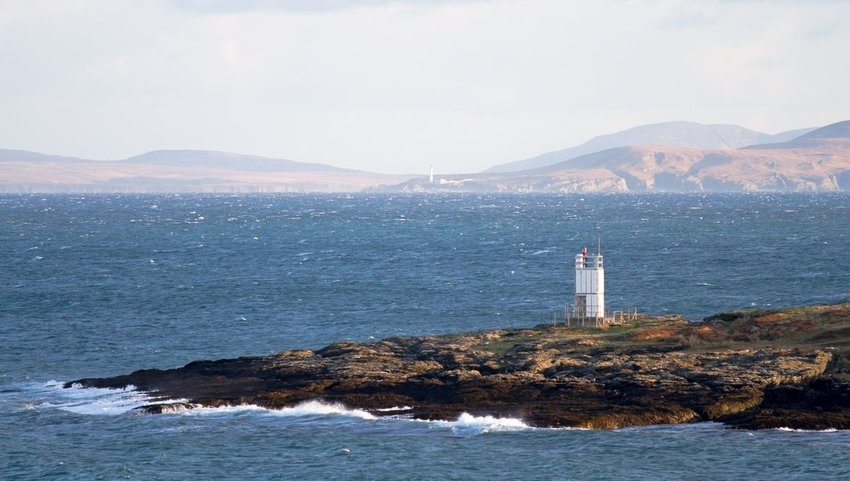 A lighthouse on Scalasaig, Colonsay