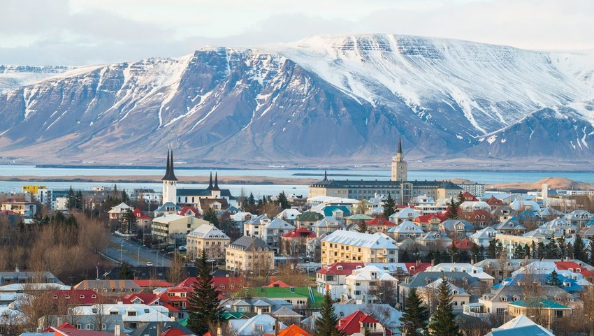 Town of Reykjavík, Iceland