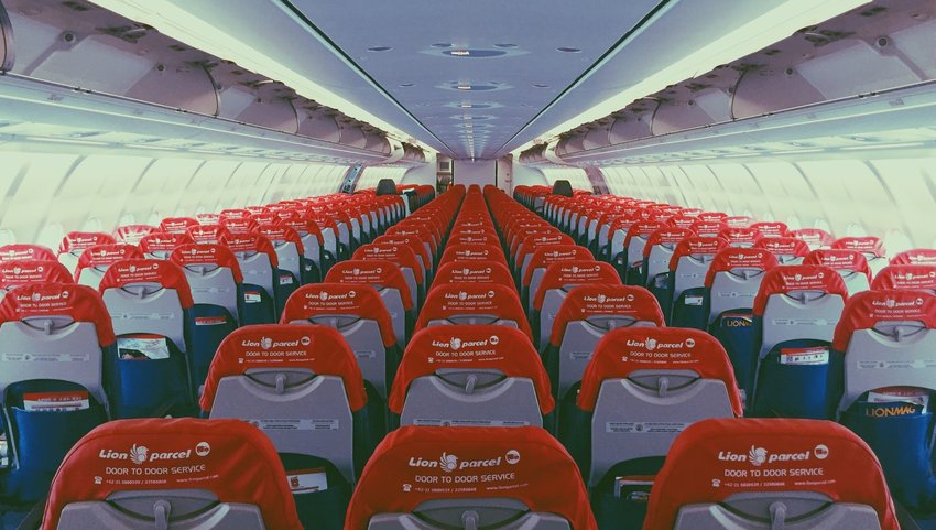 Interior of an empty plane