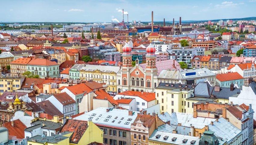 Cityscape of Pilsen