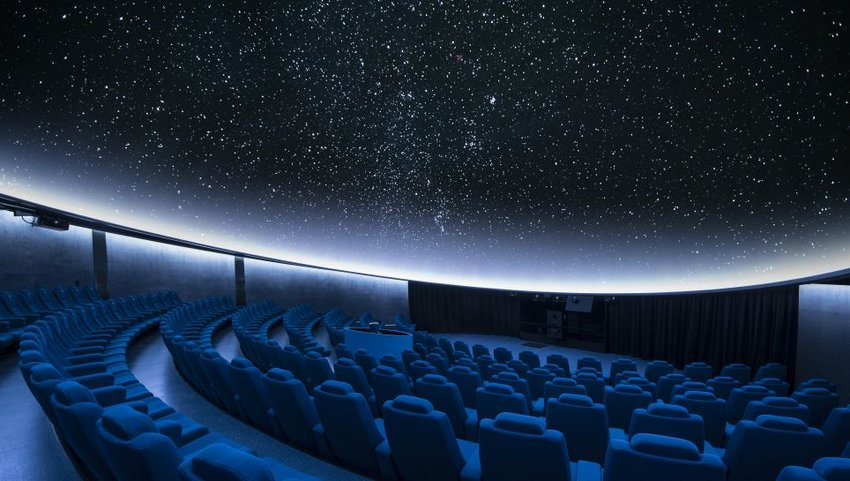 Interior of a planetarium