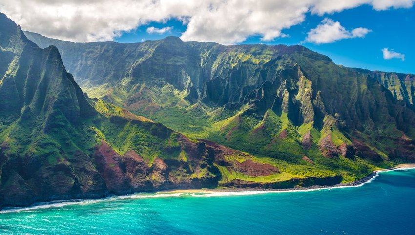 Napali Coast on Kauai island