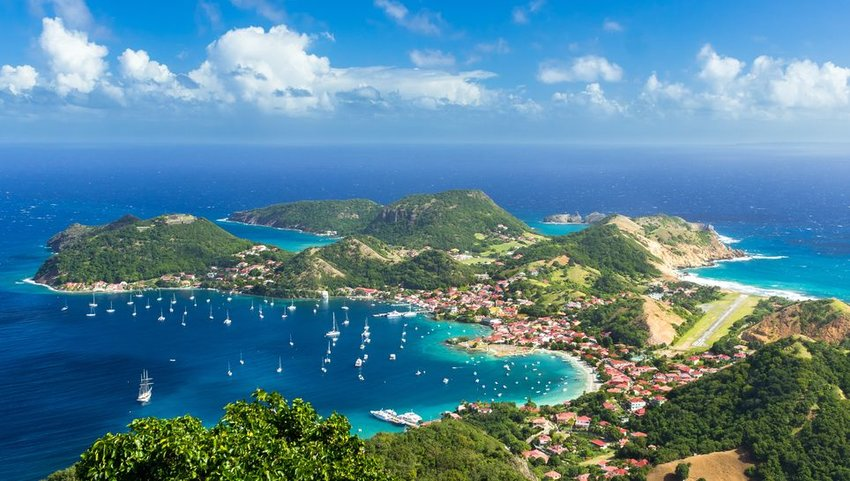 Town of Guadeloupe from above