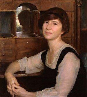 Painting of Freya Stark