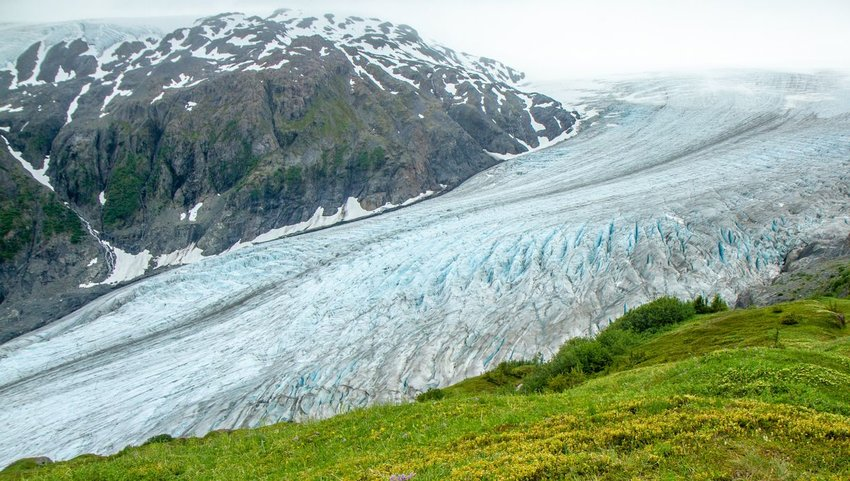 Exit Glacier, Harding Ice Field, Kenai Fjords National Park, Seward, Alaska