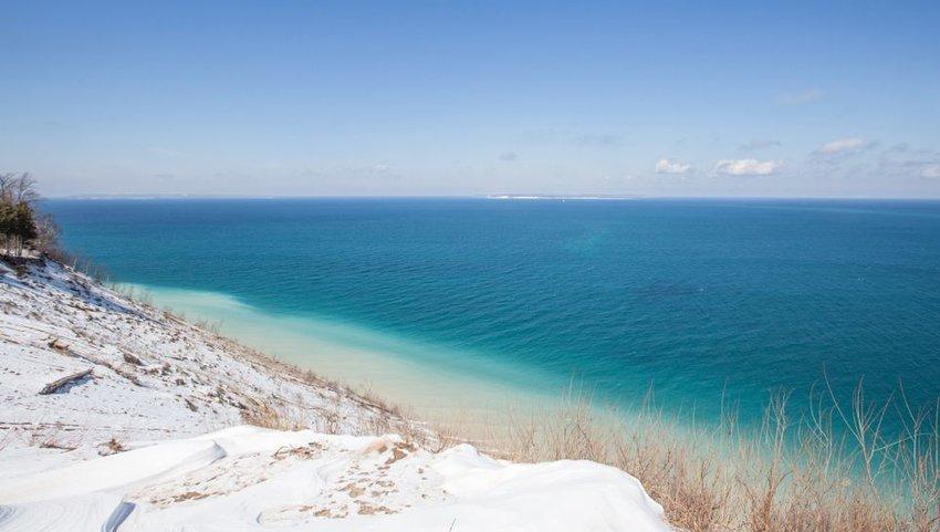 Pyramid Point at Lake Michigan and Sleeping Bear Dunes