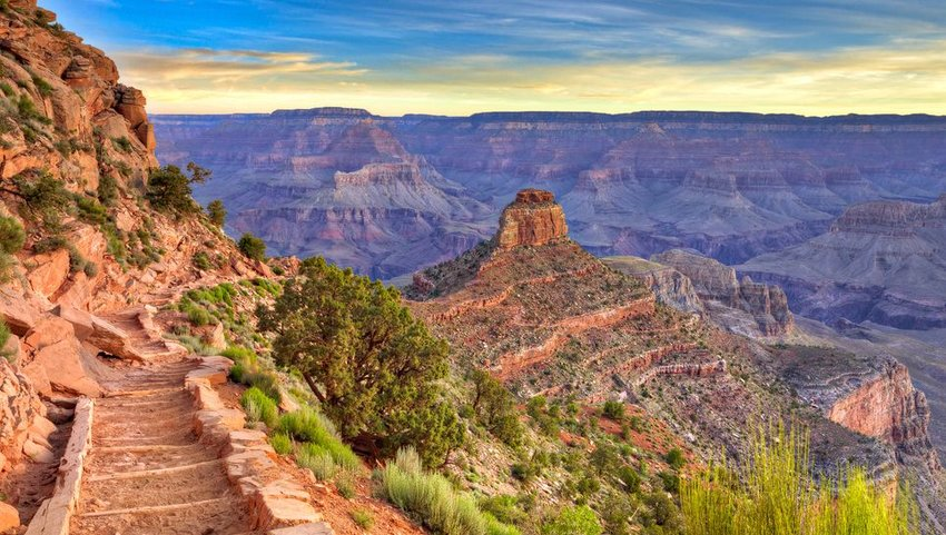 South Kaibab trail in the Grand Canyon