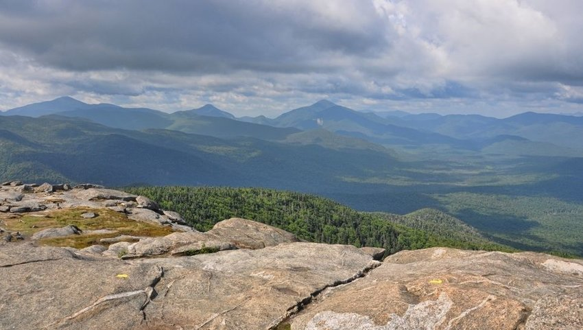 View of Mount Marcy from the top of Cascade Mountain