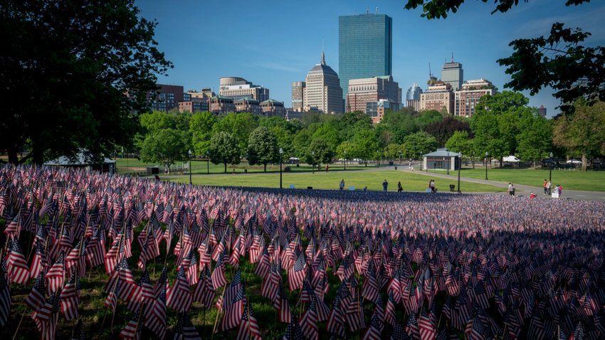 Boston Common on Memorial Day