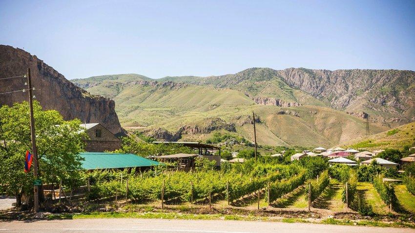 Areni winery vineyards, traditional Armenian wine factory, Armenia