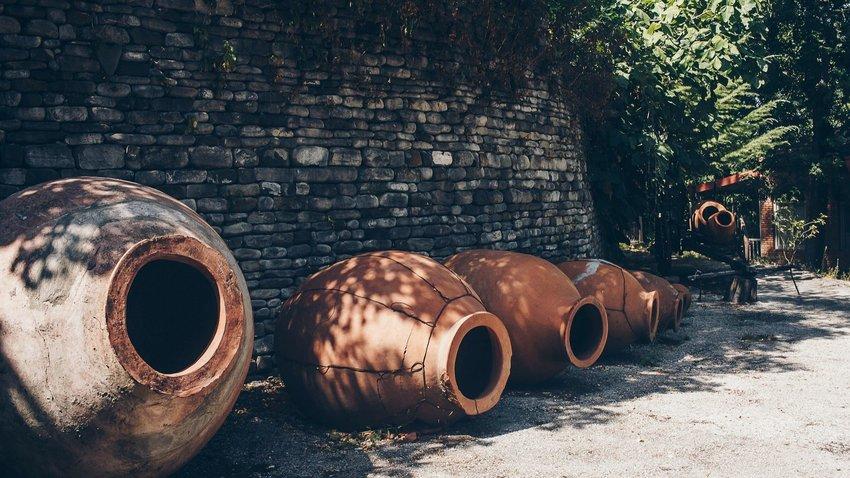 Clay wine pots in Georgia
