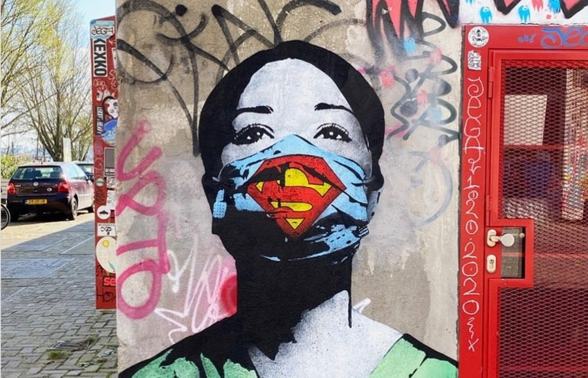 The Best Coronavirus-Inspired Street Art From Around the World