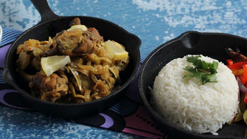 West African Yassa Chicken With Rice
