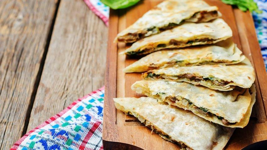 Cheese-and-Mushroom Quesadillas