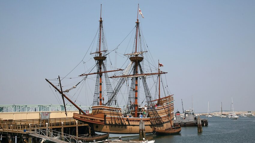 Replica of the Mayflower in Plymouth, Massachusetts. Photo by aceshot1.